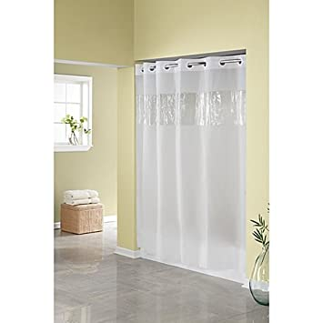 Amazon.com: Hookless Frost 71-Inch W x 74-Inch L Shower Curtain ...