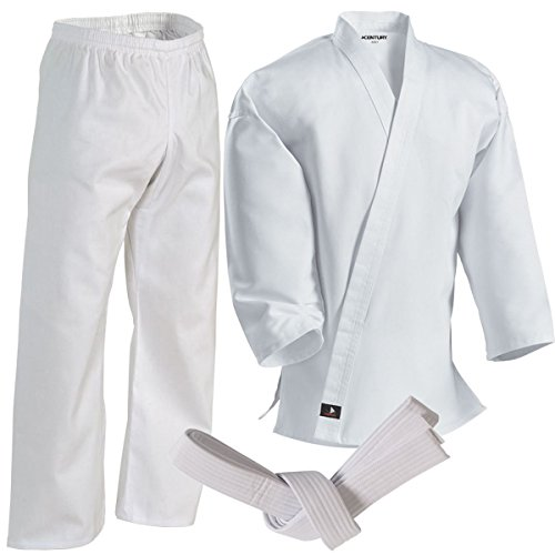 Century Martial Arts Middleweight Student Uniform with Elastic Pant - White, 7 - Adult XX-Large