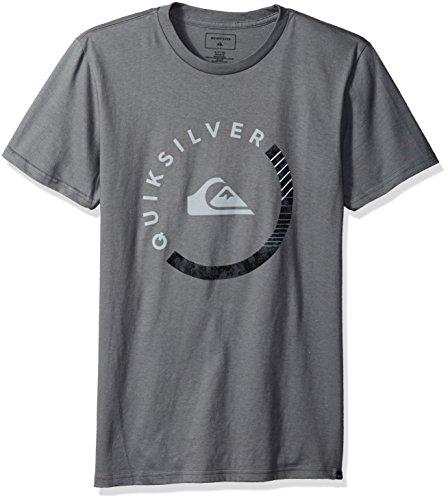 Quiksilver Men's Logo Tee Shirt, Slab Session Quiet Shade, (Mens Xxl T-shirt)