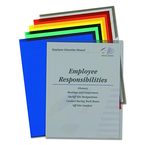 C-Line Colored Project Folders, Heavyweight Poly, Holds Materials up to 8.5 x 11 Inches, Assorted Colors, 25 per Box (62130) ()