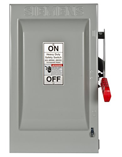 600v Safety Switch - Siemens HF362 60-Amp 3 Pole 600-volt 3 Wire Fused Heavy Duty Safety Switches
