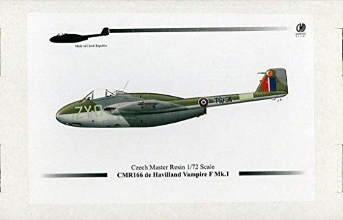 Czech Kits Master (Czech Master Resin 1:72 De Haviland Vampire F Mk.I Resin Model Kit #166)