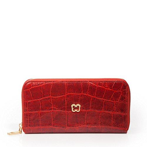 Eric Javits Luxury Fashion Designer Women's Handbag - Zip Wallet - Red by Eric Javits