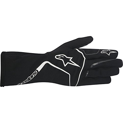 Alpinestars 3552717-12B-S YTH TECH 1-K RACE GLOVES, BLACK/WHITE, SIZE S (PR)