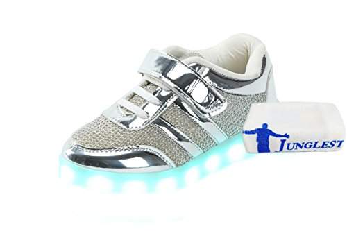 [+Small towel]The new LED lamp lights shoes shoes Korean men and women shoes USB charging light emitting luminescent seven color baby c2 QxCTue