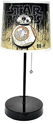"Disney Star Wars BB8 Table Lamp, Black, 20"""