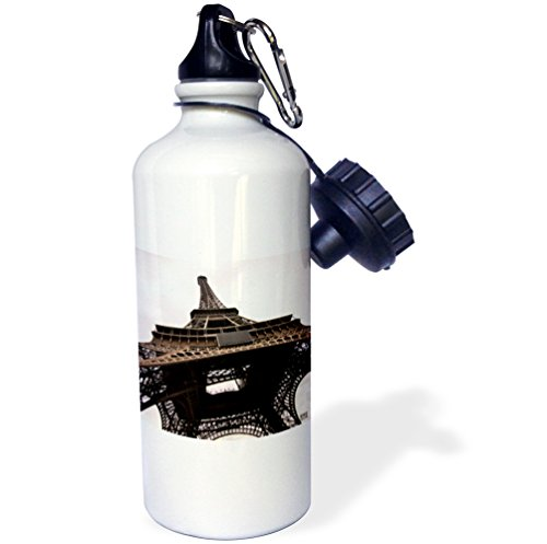 Water France Bottle Tour De (3dRose wb_10502_1 Paris France, Tour Eiffel - Sports Water Bottle, 21 oz, White)