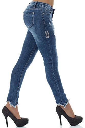 para skinny Vaqueros malucas Azul mujer z5E5wq