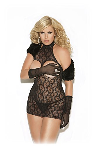Sexy Women's Plus Size Cupless Lace Dress Kinky Sleepwear Lingerie Nightgown (Kinky Costumes)