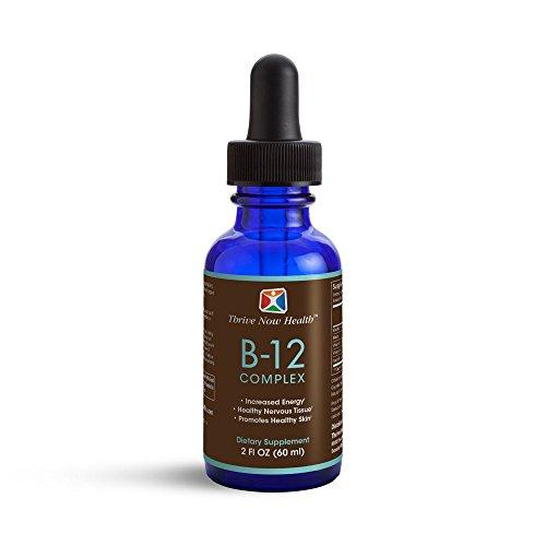 Thrive Now Health - B-12 Complex, Fast-Acting Liquid Vitamin Drops, Helps Boost Metabolism and Circulation (60 ml/2 fl oz)