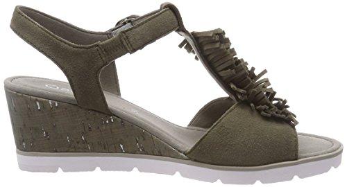 Mujer Gabor para Shoes Pulsera Oliv con Sandalia Basic Verde wzSFzq7Yx