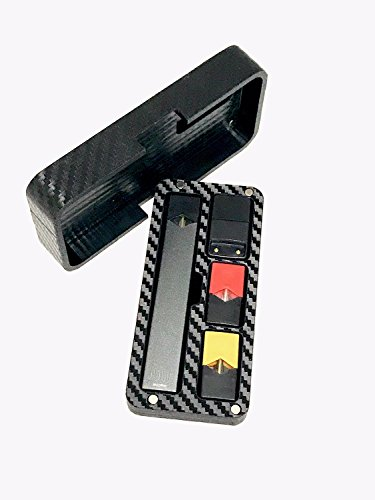 JUUL travel case Black Carbon Fiber Wrapped by Jwraps by Jwraps (Image #1)