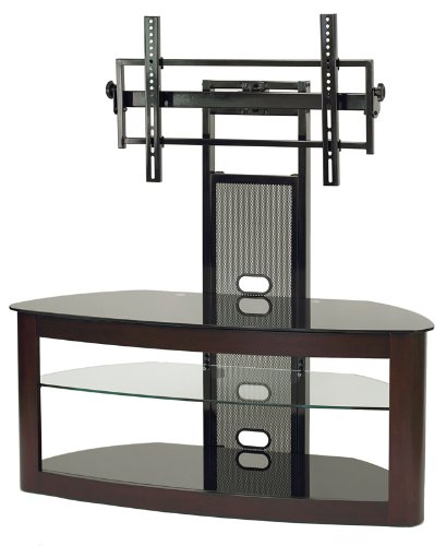 TransDeco TD600ES TV Stand with Mount for 35-80 inch Television, Espresso/Black