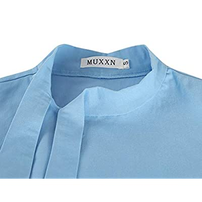 MUXXN Women's Classic Vintage Tie Neck Formal Cocktail Dress with Pocket: Clothing