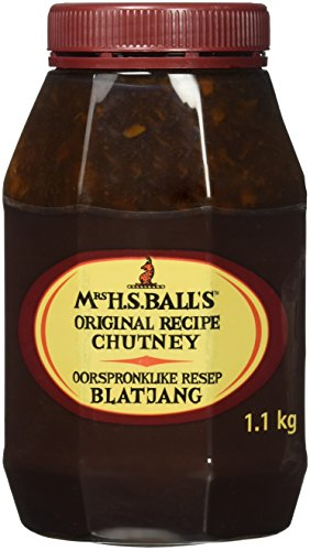 Mrs H.S.Ball's Original Chutney (1.1Kg wide mouth plastic bottle) - Imported from South Africa ()
