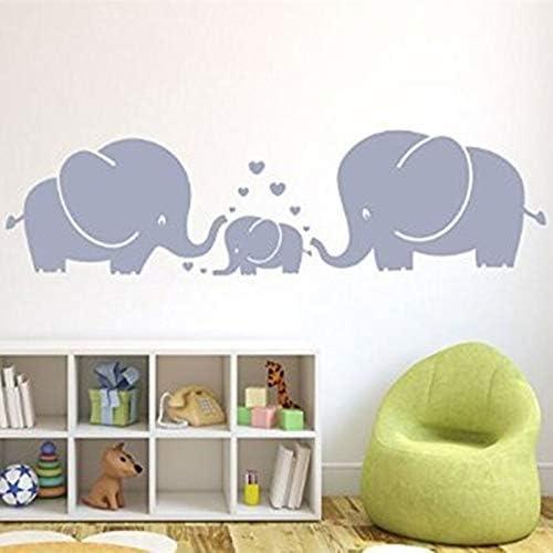 Fengdp Tres Lindos Elefantes Padres e Hijos Familia con Corazón ...