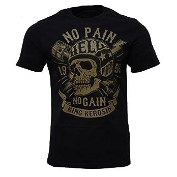 No Pain No Gain T-Shirt Schwarz Totenkopf Skull