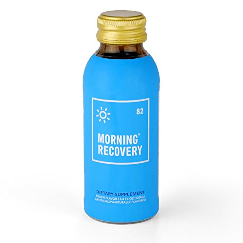 Morning Recovery Drink (Original Version V1), 6-Pack Dietary Supplement, Proprietary Blend with Dihydromyricetin (DHM), Milk Thistle, Vitamin B, Electrolytes, 3.4 fl oz, Peach (Non-GMO, Soy-Free)