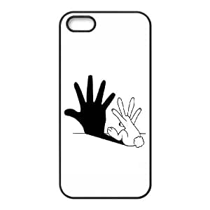 iPhone 4 4s Cell Phone Case Black Rabbit Hand Shadow YWU9278098KSL
