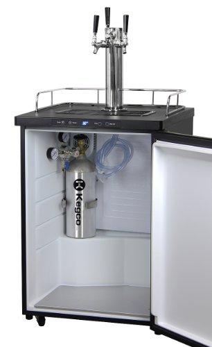 Kegco Full-Size Digital Homebrew Kegerator Triple Faucet Ball Lock Keg Dispenser Black by Kegco (Image #7)