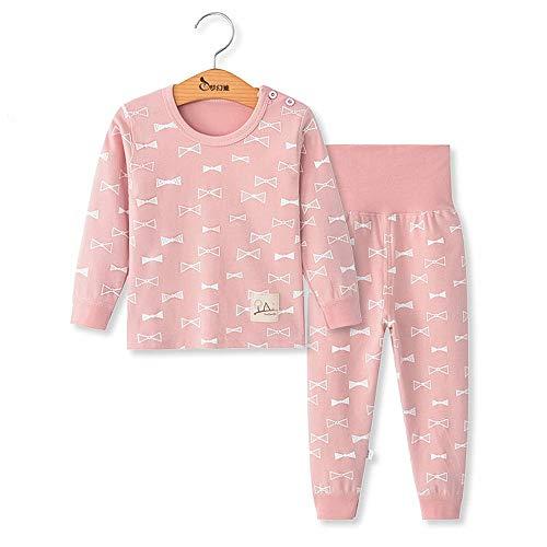 Chickwing Toddler Baby Girls Boys Pajama Set High Waist Sleepwears Pjs 2-Pack (12~18months, Pink Bow)