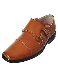 Joseph Allen Boys'Double Buckle Dress Shoes