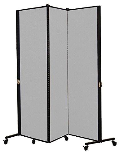 Screenflex Privacy Screen, 5.75' x 5.75', Vinyl Granite (Vg Vinyl Door)