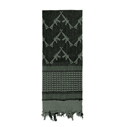 Rothco Crossed Rifles Shemagh Tactical Scarf, Foliage (Shemagh Foliage)