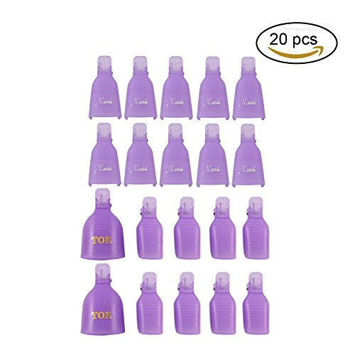 teenitor-20-pieces-reusable-toenail-and-finger-nail-art-soak-off-cap-clip-uv-gel-polish-remover-tool