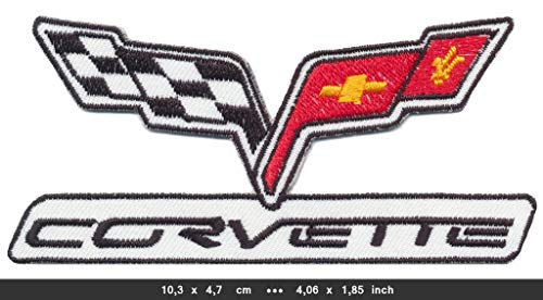 CHEVROLET CORVETTE Iron Sew On Cotton Patch Sports Cars V8 USA by RSPS Embroidery n ()