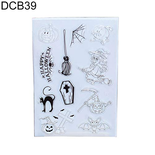 Connoworld Halloween Pumpkin Witch Stamper DIY Scrapbook Album Cards Decorating Tool DCB39 ()