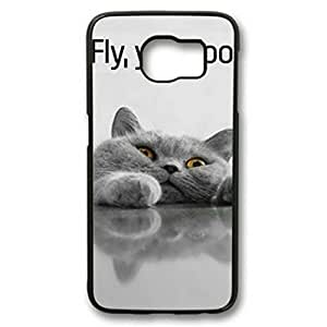 Fly You Fools Customized Black Plastic Rubber TPU Samsung Galaxy S6 Case,Cellphone Galaxy S6 Case(Not Fit for Galaxy S6 Edge)