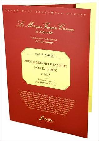 Livres à télécharger sur ipad mini Airs de Monsieur Lambert non imprimez en français PDF iBook B0040QPBXG