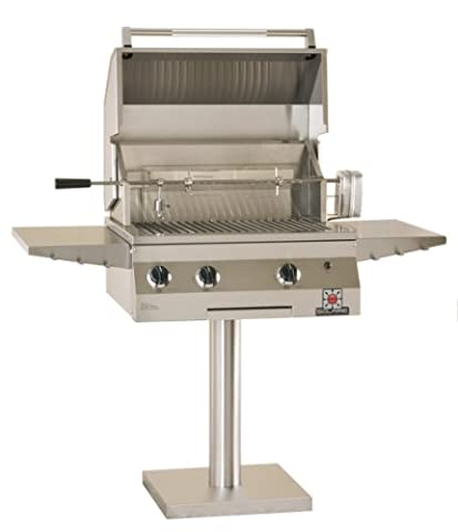 Solaire 27-Inch Deluxe Infrared Natural Gas Bolt-Down Post Grill with Rotisserie Kit, Stainless - Deluxe Natural Gas Grill