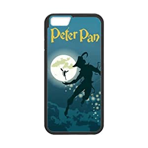 IPhone 6 Case,IPhone 6 case cover,Custom TPU and Plastic Peter Pan Case Cover Protector for IPhone 6 (Black/White)