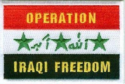 (OPERATION IRAQI FREEDOM Military VET Veteran War NEW Biker IRAQ Patch PAT-1362)