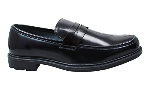 class man's AK slip on Mocassini nero scarpe eleganti ecopelle uomo shoes collezioni qwBwvt