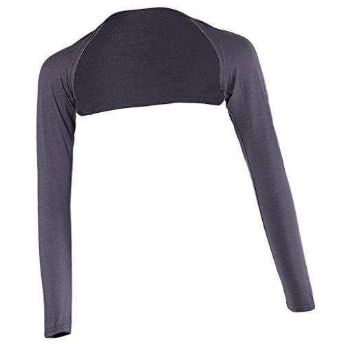 Prettyia 連肩カバー イスラム教徒 ボレロ アームカバー ショルダー フリーサイズ 長袖 軽量 伸縮性 多色選べ