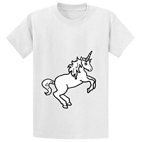 Mcol Unicorn White Child Crew Neck Print T-shirt White