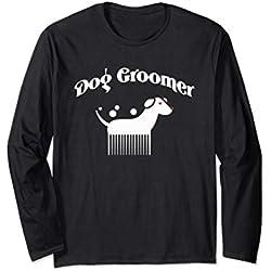 Dog Groomer Shirt Funny Dog Grooming Brush Tee