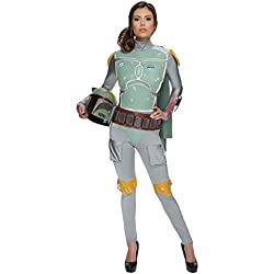 Rubie's Costume Women's Star Wars Boba Fett Woman's Deluxe Costume Jumpsuit, Multi, Medium
