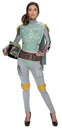 Science Fiction Costumes Female (Rubie's Women's Star Wars Boba Fett Deluxe Costume Jumpsuit, Multi, Small)