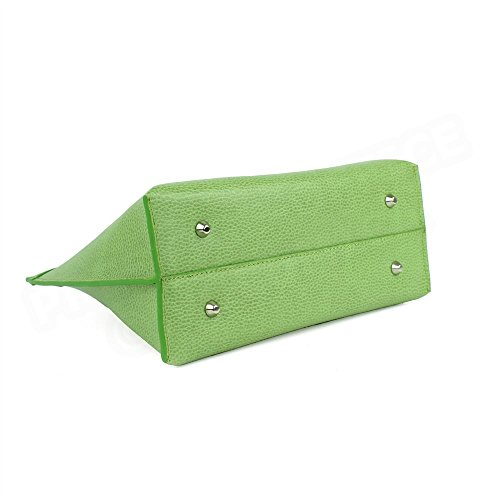 Sac Cabas Marie cuir Vert anis Beaubourg