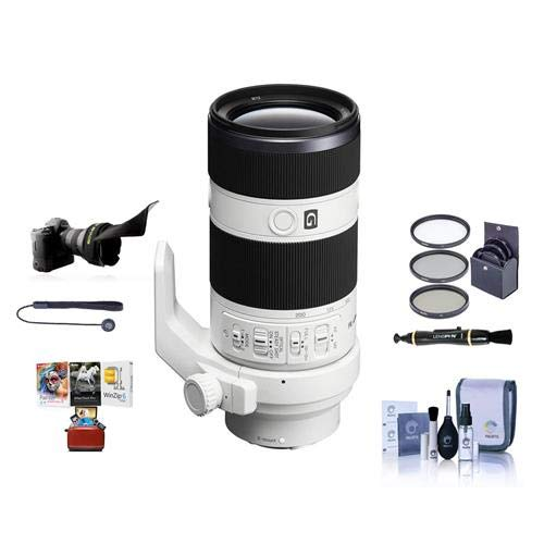 Sony FE 70-200mm f/4.0 G OSS E-Mount Lens - Bundle with 72mm Filter Kit, Flex Lens Shade, Cleaning Kit, Capleash II, Lenspen Lens Cleaner, Mac Software Package (Sony Fe 70 200mm F4 G Oss)