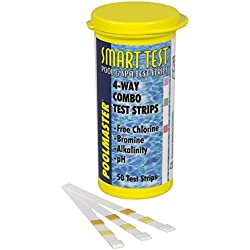 Poolmaster 22211 Smart Test 4-Way Pool and Spa Test Strips - 50ct