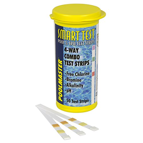 Poolmaster 22211 Smart Test 4-Way Swimming Pool and Spa Water Chemistry Test Strips, 50 count