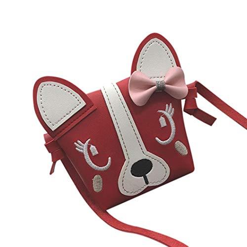 Children Mini Bag Handbag Animal Leather Kanpola Bowknotl Red Cute Crossbody Bag Shoulder Black dnZwUBTw