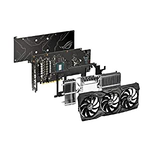 ASUS ROG Strix GeForce GTX 1660 Ti 6GB Overclocked Edition VR Ready HDMI 2.0 DP 1.4 Auto-Extreme Graphics card (STRIX-GTX1660TI-O6G-Gaming)