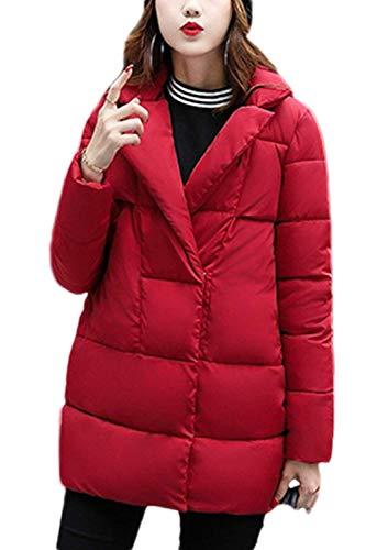 BoBoLily Doudoune Femme paissir Chaud Hiver Coat Facile Spcial Style Doudoune Manteau Parka lgant Doudoune Longues Rouge