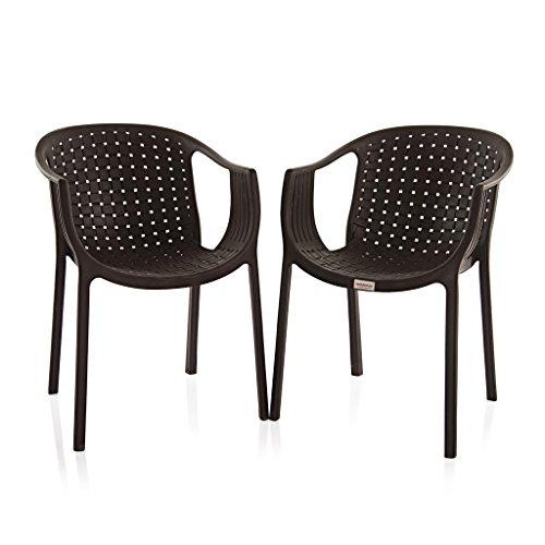 Varmora Designer Chair Set of 2 (Ola Netted – Brown)